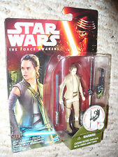 """RARE ! Star Wars The Force Awakens 3 3/4"""" Action Figure Rey Resistance Outfit"""