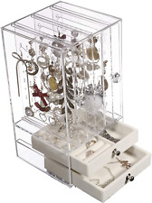 joyero organizador de joyas zarcillos aretes colgantes pendientes caja regalo