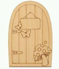 Fairy/Hobbits Garden Unfinished Wooden Door /Micro/Dollhouse/Bonsai