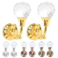 2PCS Large Metal Crystal Curtain Holdback Wall Tie Back Hooks Hanger Holder UK