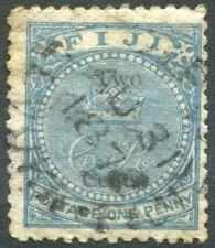 FIJI-1871 1d Blue Sg 10 GOOD USED V22766