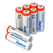 AA NiMH Ni-Mh Rechargeable Battery 2600mAh Batteries Pack Count X 8