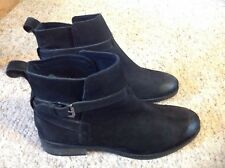 Fat Face nubuck suede ankle boots sze 6 black
