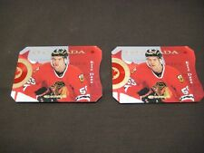 2 NUMBERED HOCKEY CARD 1996 ERIC DAZE DONRUSS CANADIAN ICE  VERY RARE XXXX/2000