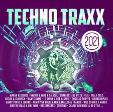 CD Techno Traxx 2021 von Various Artists 2CDs