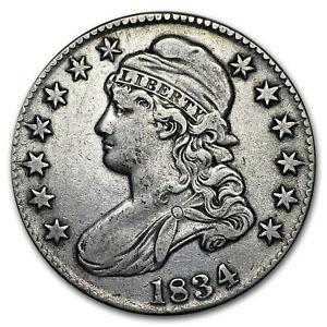 1834 Capped Bust Half Dollar Large Date/Large Letters VF - SKU#170831