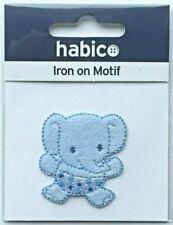 Habico Baby Blue Elephant Iron on Motif Patch Child or Adult Embellishment