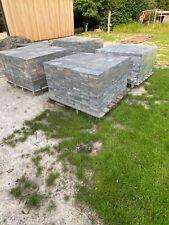 Getrommelde grijze betonklinkers, 15x15x5 cm, rustiek uitzicht, gecoat