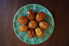 Vintage Majolica Palissy Plate of Walnuts Portugal