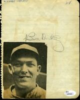 Bill Dickey 1930`s Jsa Authenticated Signed Album Page Autograph