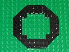 LEGO Black Plate 10 x 10 Octagonal Open Center ref 6063 6180 2161 6975 6455 ...