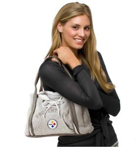 Pittsburgh Steelers Purse Hoodie Handbag NFL Ladies Embroidered Logo