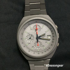 Tag Heuer Chronograph 510.503 Lemania 5100 Automatic Pewter PVD Watch, NEW