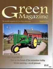 John Deere Green Magazine March 2011 Featured Models JD WA-14 & WA-17