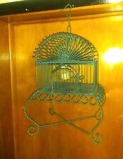 Elegant Wrought Iron Bird Cage scroll work twisted metal beautiful