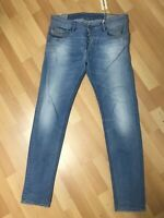 NWD MENS Diesel SLEENKER DISTRESSED Stretch Denim 0666R BLUE Slim W32 L32 H6