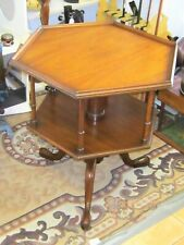 Rare Kittinger Colonial Williamsburg Rotating Book Table ~ 1960's ~ Excellent Co