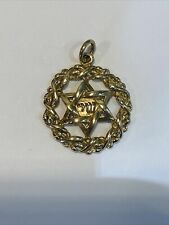 Vintage 9ct Gold Star Of David Charm