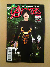 """UNCANNY AVENGERS V.3 #1 """"WASP"""" COSPLAY PHOTO 1:15 VARIANT COVER NM 1ST PRINTING"""