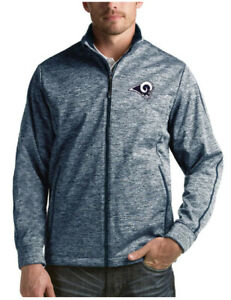 Men's NEW with Tags Los Angeles Rams Antigua Heather Navy Full-Zip Golf Jacket