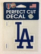 "LA Dodgers 4"" x 4"" Logo Truck Car Auto Window Die Cut Decal New! Team Colors"