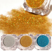 3Boxes Holographic Nail Glitter Powder Nail Art Dust Pigment Manicure Kits DIY