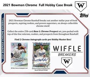 Philadelphia Phillies 2021 Bowman Chrome (12) Box Sealed Hobby Case TEAM BREAK