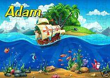 puzzle bateau pirate ile aux trésors  REF 68 - 120 PIECES AVEC PRENOM