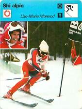 FICHE CARD: Lise-Marie Morerod Suisse Slalom skier Alpine skiing SKI ALPIN 1970s