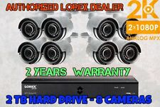 New Lorex 8 Channel 8 Camera 4MP 2K HD Security System 2TB DVR Color NIGHTVISION
