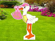 Its a Girl Outdoor Yard Stork Sign Welcome New Baby Lawn Announcement 4 Ft tall