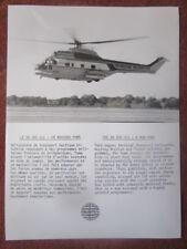 PHOTO PRESSE AEROSPATIALE SA 330 J/L PUMA PETROLEUM HELICOPTERS HUBSCHRAUBER