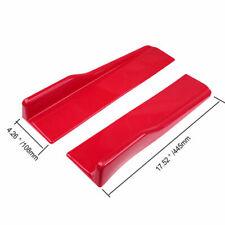 """17.52""""* 4.26"""" Red Side Skirt Rocker Splitters Diffuser Winglet Wings Universal"""