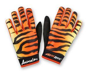 RocRide Animalz Cycling Orange Tiger Viper. Full-Finger Screen Compatible Tips