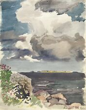 Karl Adser 1912-1995 Sommertag Blumen am Meer Romsö Ostseeinsel Dänemark