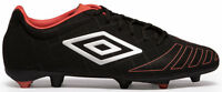 UMBRO UX Accuro Premier HG Football Boots Black / Metal / Grenadine - UK 9.5