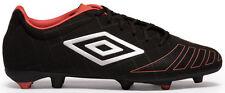 UMBRO UX Accuro Premier HG Football Boots Black / Metal / Grenadine - UK 9.5