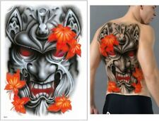 FULL BACK TATTOO LARGE MONSTER SKULLS DEVIL HALLOWEEN ADULT WOMEN MEN TATTOO