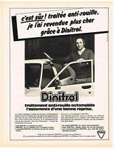 PUBLICITE ADVERTISING  1981  DINITROL  traitement anti-rouille