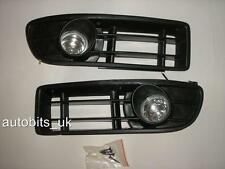 FOG LIGHTS LAMPS GRILLS L&R SET FOR VW BORA 1999-2005 MK4 A4 1J NEW