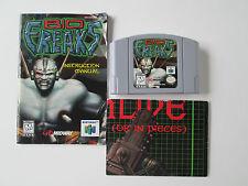 Biofreaks (Nintendo 64, 1998) Game, Manual & Poster (Tested) NTSC/US/CA