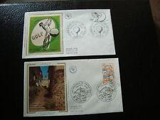 FRANCE - 2 enveloppes 1er jour 1980 (cordes-golf) (cy18) french