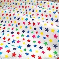 Par demi mètre multicolore étoiles tissu polycoton 112cm large
