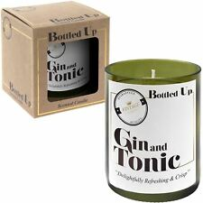 Bottled Up Gin Tonic Scented Green Wine Bottle Candle 50 Hrs Fragrance Gift Box