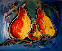 PEARS FAMILY painting Mark Kazav Original Painting no reserve STRETCHED NR