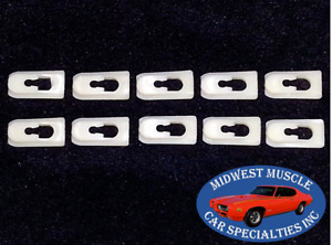 74-90 GM NOS Cadillac Chevy Oldsmobile Vinyl Soft Landau Top Trim Clips 10pcs IZ
