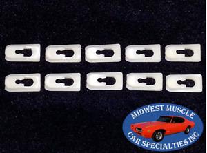 74-90 GM NOS Cadillac Chevy Oldsmobile Vinyl Soft Landau Top Trim Clips 10pcs IZ