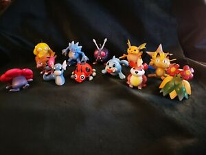 Vintage tomy pokemon figures lot Raichu Dratini meowth staryu psyduck seel