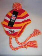 Too Cool! New Licensed Kansas City Chiefs Kids Boys (4-7) Dangle Beanie Hat B08