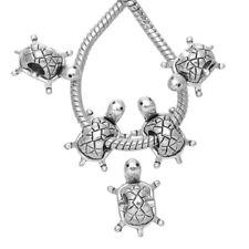 20 Antiksilber Charm European Schildkröte Perlen Beads für Armband 19x13mm  FL